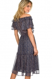 Lolly's Laundry |  Off-shoulder maxi dress Veronica | blue  | Picture 6