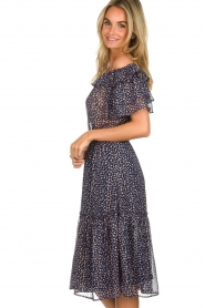 Lolly's Laundry |  Off-shoulder maxi dress Veronica | blue  | Picture 5