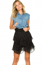 IRO |  Ruffle skirt Melbou|black  | Picture 2