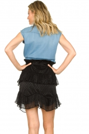 IRO |  Ruffle skirt Melbou|black  | Picture 5