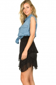 IRO |  Ruffle skirt Melbou|black  | Picture 4