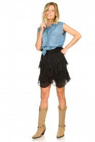IRO |  Ruffle skirt Melbou|black  | Picture 3