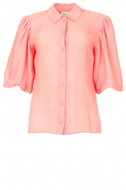 Dante 6 |  Textured blouse with puff sleeves Lecce | pink  | Picture 1