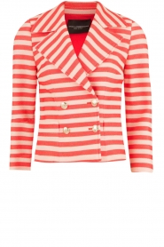 Atos Lombardini |  Double breasted blazer Joline | red/white  | Picture 1