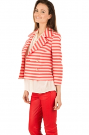 Atos Lombardini |  Double breasted blazer Joline | red/white  | Picture 4