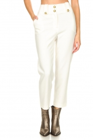 Nenette |  Cigarette pants Euridice | white  | Picture 4