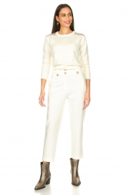 Nenette |  Cigarette pants Euridice | white  | Picture 3