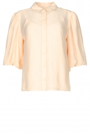 Dante 6 |  Textured blouse with puff sleeves Lecce | natural  | Picture 1