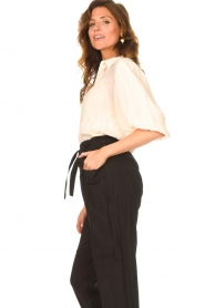 Dante 6 |  Textured blouse with puff sleeves Lecce | natural  | Picture 5