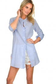 Lolly's Laundry |  Oversized blouse Doha | blue  | Picture 2