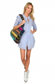 Lolly's Laundry |  Oversized blouse Doha | blue  | Picture 3