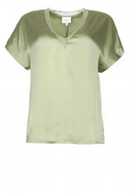 Dante 6 |  Silk stretch top Odette | green  | Picture 1
