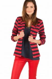 Atos Lombardini | Gestreepte blazer Pippa | rood/blauw  | Afbeelding 2