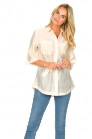 Dante 6 |  Long blouse with tie waist Radical | natural  | Picture 5