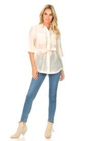 Dante 6 |  Long blouse with tie waist Radical | natural  | Picture 3