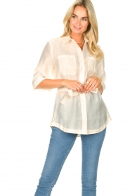 Dante 6 |  Long blouse with tie waist Radical | natural  | Picture 4
