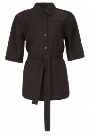 Dante 6 |  Long blouse with tie waist Radical | black  | Picture 1