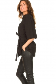 Dante 6 |  Long blouse with tie waist Radical | black  | Picture 6