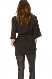 Dante 6 |  Long blouse with tie waist Radical | black  | Picture 7