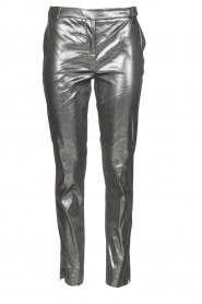 Metallic pants Dua | silver