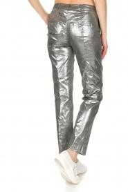 Patrizia Pepe | Metallic broek Dua | zilver  | Afbeelding 5
