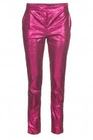 Patrizia Pepe | Metalic broek Dua | roze  | Afbeelding 1