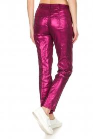Patrizia Pepe | Metalic broek Dua | roze  | Afbeelding 6