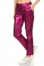 Patrizia Pepe | Metalic broek Dua | roze  | Afbeelding 4