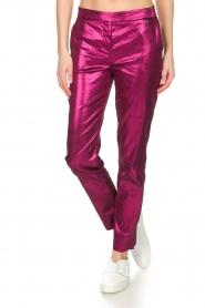 Patrizia Pepe | Metalic broek Dua | roze  | Afbeelding 2