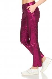 Patrizia Pepe | Metalic broek Dua | roze  | Afbeelding 5