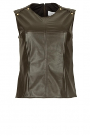 Nenette |  Faux leather top Fappiano | green  | Picture 1