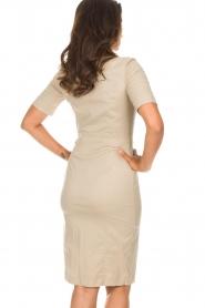 Patrizia Pepe |  Dress Zita | beige  | Picture 6
