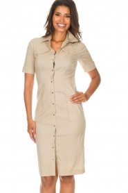 Patrizia Pepe |  Dress Zita | beige  | Picture 2