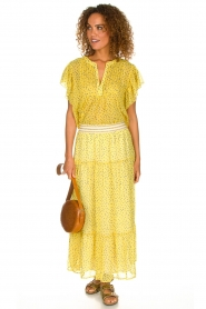 Lolly's Laundry |  Maxi skirt Bonny | yellow  | Picture 3