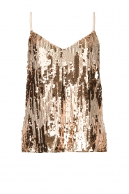 Dante 6 |  Top with sequins Obu | nude  | Picture 1