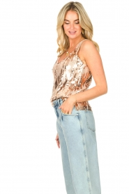 Dante 6 |  Top with sequins Obu | nude  | Picture 5
