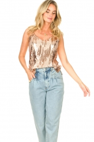 Dante 6 |  Top with sequins Obu | nude  | Picture 2