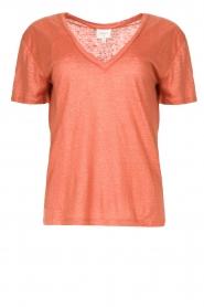 Dante 6 |  Linen T-shirt Birley | orange  | Picture 1