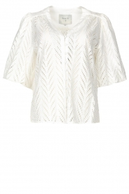 Dante 6 |  Openwork blouse with puff sleeves Kenzly | white  | Picture 1