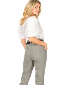 Dante 6 |  Openwork blouse with puff sleeves Kenzly | white  | Picture 7