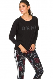 DKNY Sport |  Logo-printed sports top Hailee | black  | Picture 4
