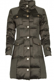 Nenette |  Long down jacket Imperia | green  | Picture 1