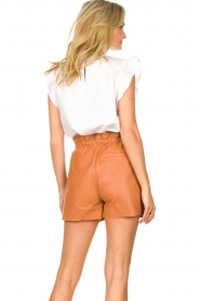 Dante 6 |  Leather shorts with drawstrings Palma | camel  | Picture 6