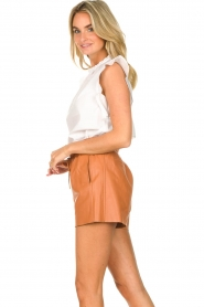 Dante 6 |  Leather shorts with drawstrings Palma | camel  | Picture 5