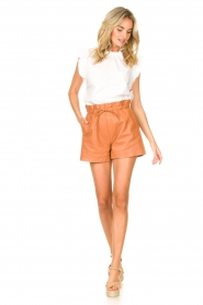 Dante 6 |  Leather shorts with drawstrings Palma | camel  | Picture 3
