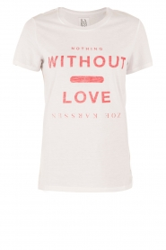 Zoe Karssen | T-shirt Without Love | wit  | Afbeelding 1
