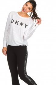 DKNY Sport |  Logo-printed sports top Hailee | white  | Picture 4