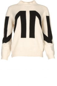 Nenette    Knitted logo sweater Mouse   naturel    Picture 1