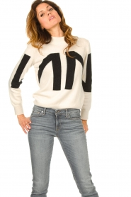 Nenette    Knitted logo sweater Mouse   naturel    Picture 2