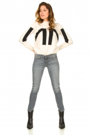 Nenette    Knitted logo sweater Mouse   naturel    Picture 3